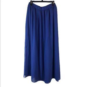 mossimo maxi skirt large blue